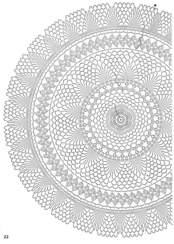 grafico tapete de croche redondo