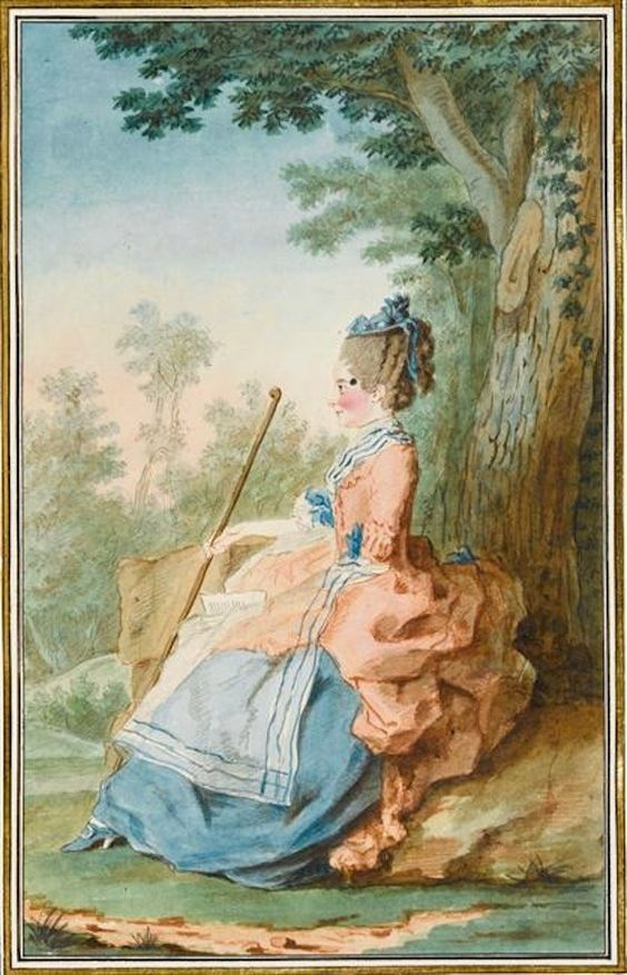 1760 (?) Madame Bontemps, gouvernante des Tuileries qui a épousé le marquis de Bissy by Louis Carrogis (Musée Condé - Chantilly France) | Grand Ladies | gogm