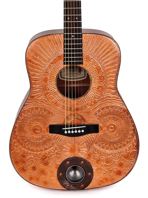 Acoustic Guitar  Copper Canyon Modified by ArtfulMusicianPRTLND on Etsy, $525.00