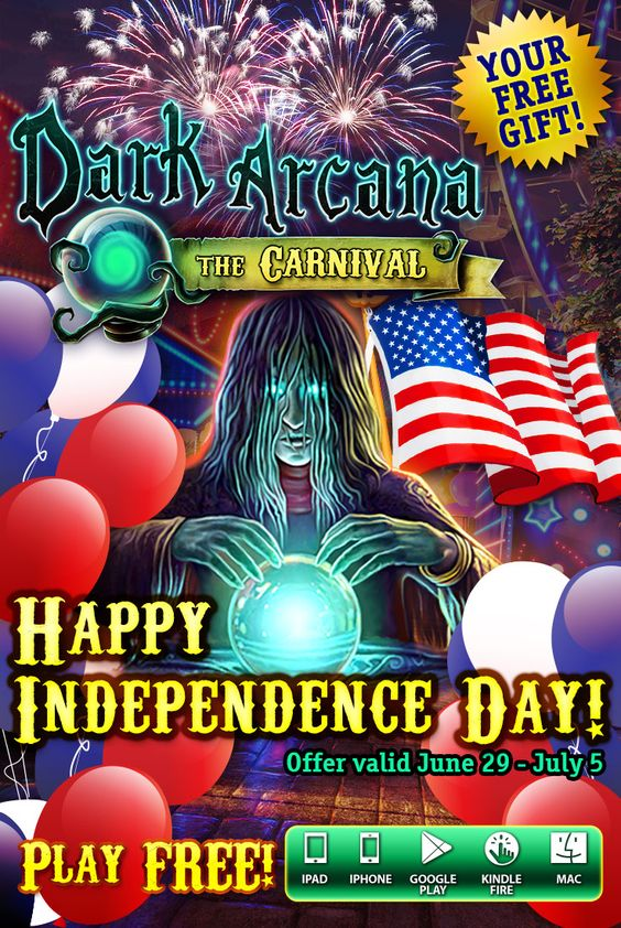 Happy 4th of July! In honor of Independence Day, we are giving away the heart-pounding adventure Dark Arcana: The Carnival! Claim your FREE download through July 6th on ALL platforms!  Play FREE: http://www.g5e.com/sale