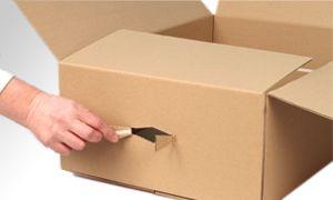 Folding cardboard with tear strip@ Duropack GmbH