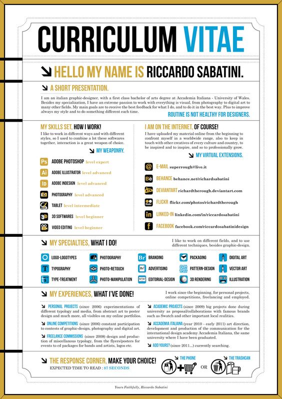 Graphic designer resume, Graphic resume and Resume on Pinterest