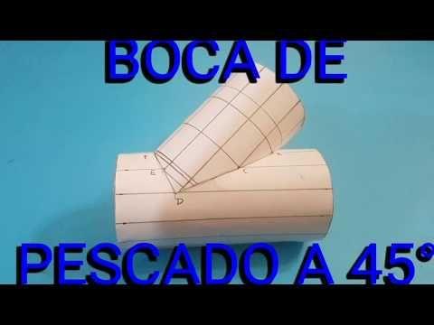 Boca De Pescado A 45 Trazado Completo Youtube Caldereria Técnicas De Dibujo Geometría Descriptiva
