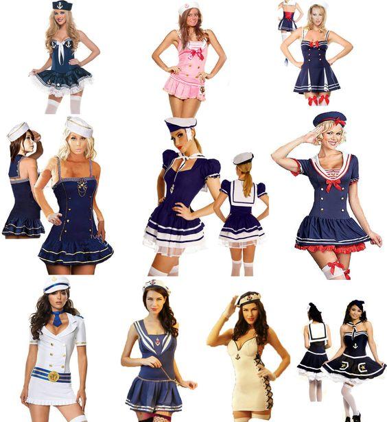 Details About Sailor Fancy Dress Costume Party Outfit Hen