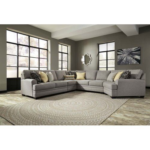 Pewter 5 Piece Sectional Grey, Ashley Furniture Peoria