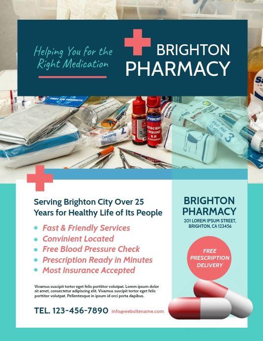 Pharmacy Flyer Pharmacy Poster Pharmacy Poster Template