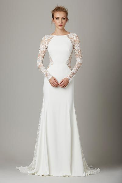 Wedding gown by Lela Rose.