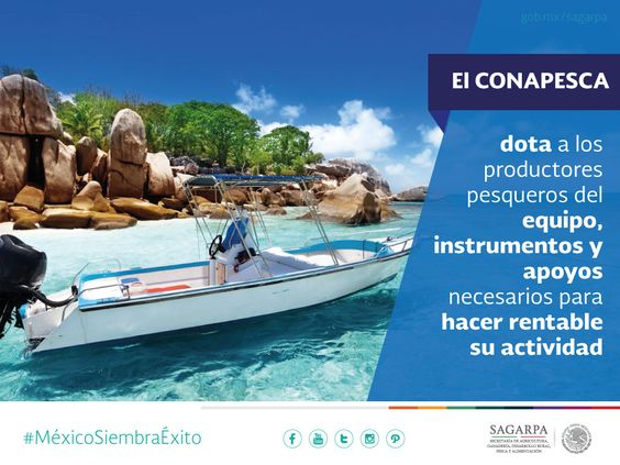 El CONAPESCA dota a los productores pesqueros del equipo, instrumentos y apoyos necesarios para hacer rentable su actividad. SAGARPA  SAGARPAMX #MéxicoSiembraÉxito