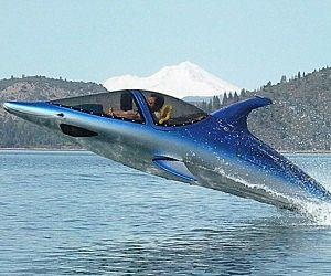 Delfin/Hai Powerboot...Normale Powerboote sind was für langweiler. Jetzt gibt es dieses coole Powerboat im Delfin oder Haifisch Design.