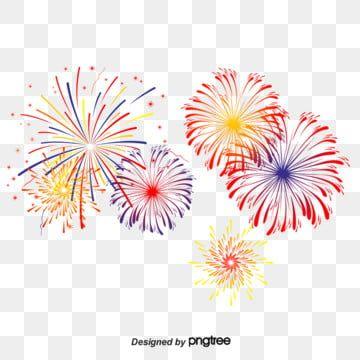 Cartoon Jubilation Summer Color Gradient Dazzle Fireworks Blooming Beautiful Festival Fireworks Print Design Template Fireworks Clipart Creative Graphic Design
