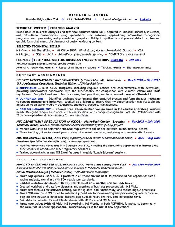 nice Create Your Astonishing Business Analyst Resume and Gain the - business analyst resume samples