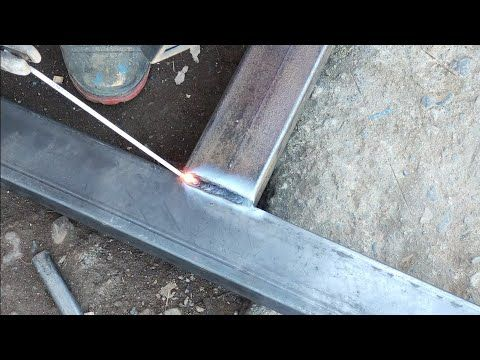 Welding 4x8 Square Tube 1 7 Mm With Stick Welder For Door Frame Youtube Door Frame Welding Welders