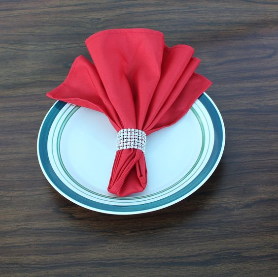 Standard 6 Rows Bling Napkin Rings*