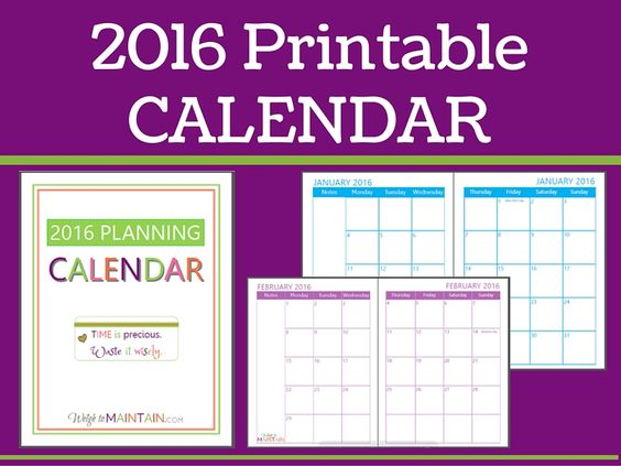 Weekly Calendar Sticky Notes : Printable calendar with big spaces to add writing or