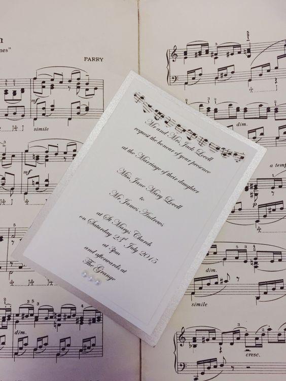Music Note Wedding Invitation