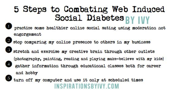 Inspirations by Ivy: Web Induced Social Diabetes, Do YOU have it?