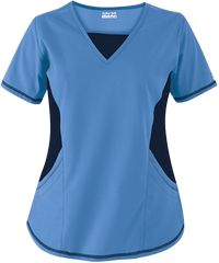 Butter-Soft+Scrubs+by+UA and trade;+New+ and +Improved+V-Neck+Top+with+Stretch+Panels