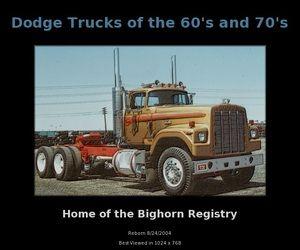 Old Dodge Truck Photos | Old Dodge Semi Trucks