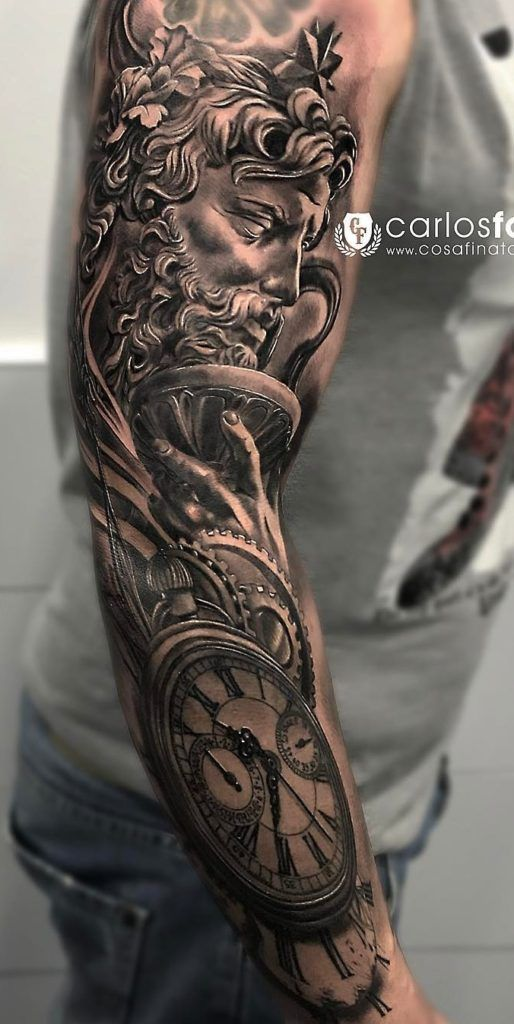 Tattoos Manner Arm Uhr