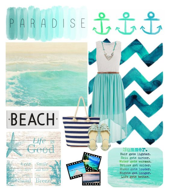 """""""Beach Lover"""" by fashionlover214 ❤ liked on Polyvore featuring Hillary Thomas Designs, maurices, Accessorize, ASOS, Rosanna and Betsey Johnson"""