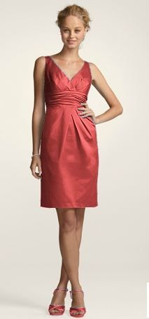 Guava colored dress from David&39s Bridal (dress color but not dress ...