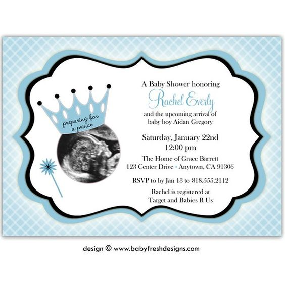DIGITAL - Baby Shower Invitation with or without Ultrasound ...