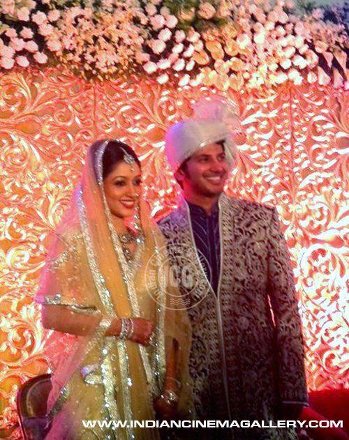 Keralas Superstar Mammoottys Son Dulquar Salman Weds Amal Sulfi