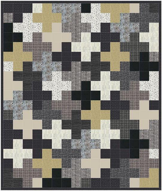 Plus quilt by stitch-by-stitch