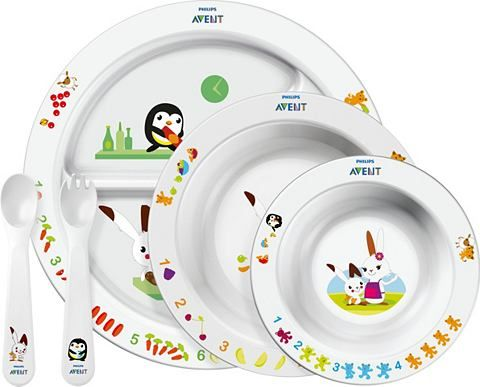 Essen will gelernt werden: Mit dem großen Ess-Lern-Set SCF716/00 von Philips Avent können erste Schritte schnell geschafft werden. Voller Stolz behaupten die Kleinkinder bald ihre eigenen Teller, Schüssel und auch Löffel und Gabel. Empfohlen ist das Ess-Lern-Set SCF716/00 für Kinder ab 6 Monaten.Top-Feature: Komplettes Set für die gesamte Entwicklung Ihres Kindes: Dank der rutschfesten Unterseite wird auch beim lebhaften Essen das Kleckern vermieden. Der spezielle Griff für kleine Hände übt…