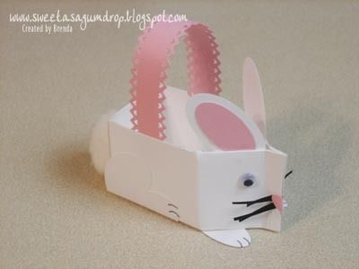 Stampin' Up!  Milk Carton  Brenda Ballesteros  Easter Bunny