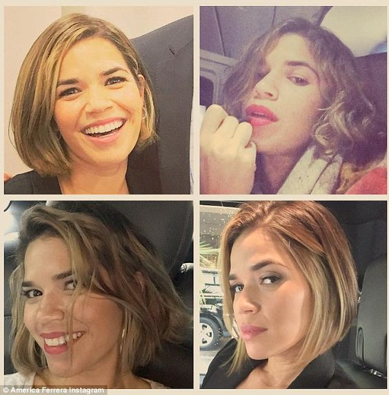 american crew hairstyles : america ferrera hair short america ferrera haircut beauty america ...