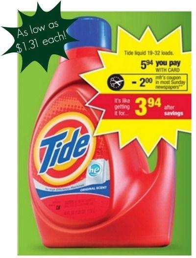 CVS: Tide as low as $1.31!!