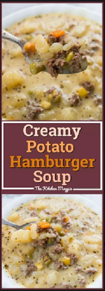 CREAMY POTATO & HAMBURGER SOUP RECIPE