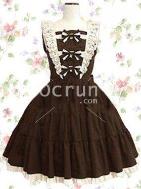 Kaffee Baumwolle Gothic Lolita Kleid