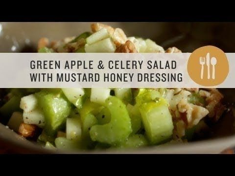 Superfoods - Green Apple and Celery Salad with Mustard Honey Dressing
