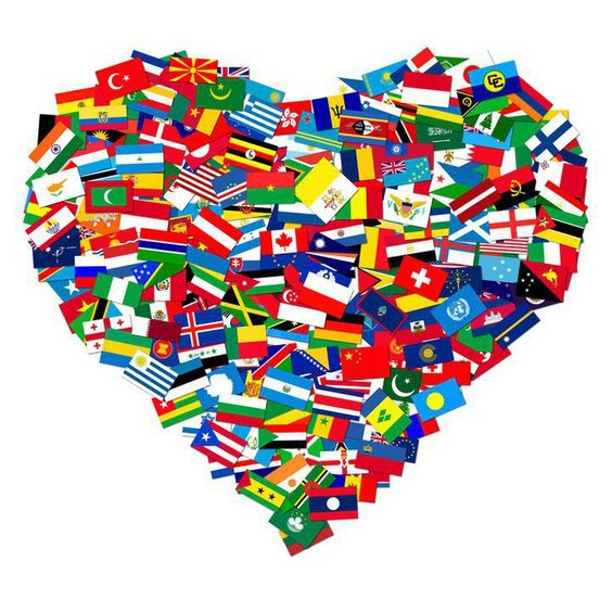 Image result for global flags heart