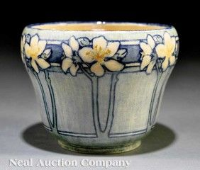 A Newcomb College Art Pottery High Glaze Jardiniere  1908, decorated by Florence M. Jardet