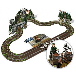 OMG this is awesome! Scalextric Star Wars Race Tracks.