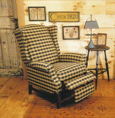 Primitive Wing Back Recliner Furniture I Need