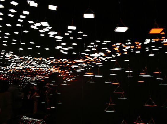 Kaneka's light installation-Pieces of light