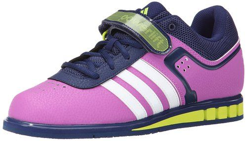 adidas Performance Women's Powerlift.2 W Weightlifting Trainer Shoe,Pink/White/Semi Solar Yellow,8 M US