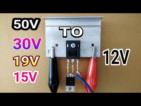 Cara Menurunkan Tegangan 19v 20v 30 50v Jadi 12v Youtube Rangkaian Elektronik Teknik Listrik Elektronik