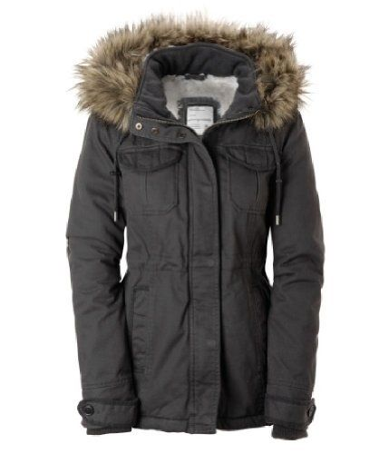 Ladies Grey Parka Coat - JacketIn