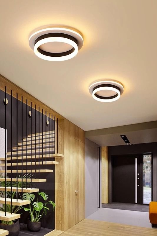 Modern Surface Mounted Square Round Led Ceiling Lights For Hallway