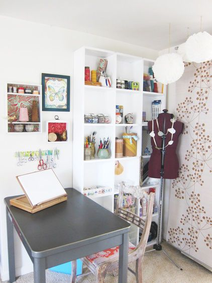 eclectic sewing coner by Going Home To Roost