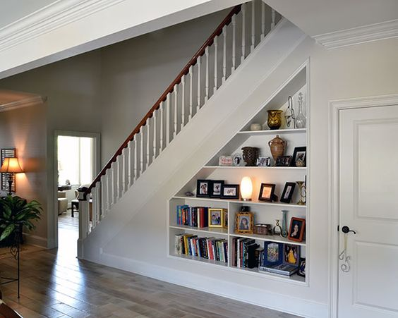 Thoughts the o 39 jays and stairs on pinterest for Using space under stairs