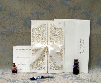 Mazel Tov Gates Wedding, jewish papercut wedding invitation