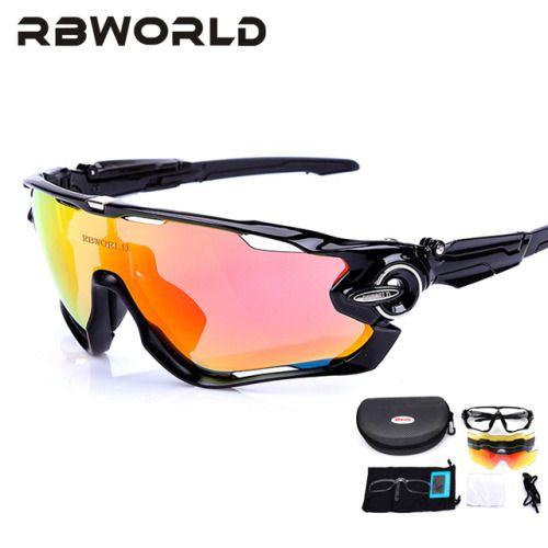 Fashion 5 Pair Lens Polarized Cycling Bicycle Sunglasses Fishing Cycling Goggles