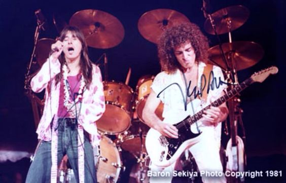 Journey Steve Perry and Neal Schon circa 1980-83