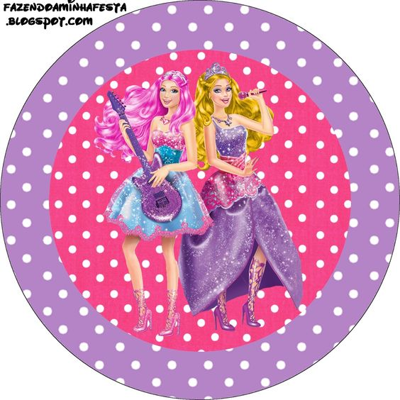 Imprimibles Barbie Princesa y Pop Star 2. | Ideas y material gratis para fiestas…